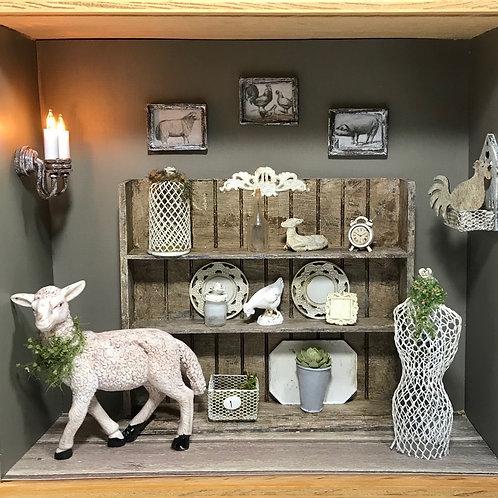 Italian Pantry with Sheep