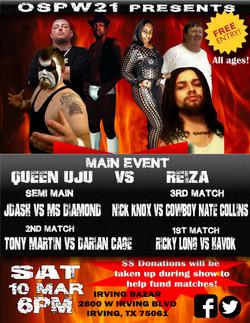 Wrestling flyer for March 2018