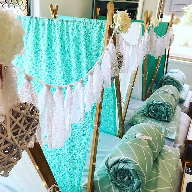 This beautiful Mint and White sleepover