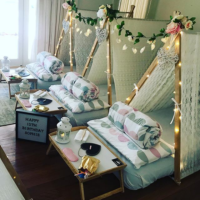 Our final slumber party setup this weeke