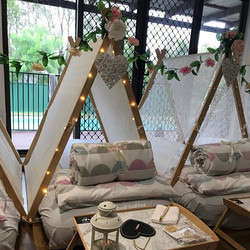 Our beautiful hand made lace tents were