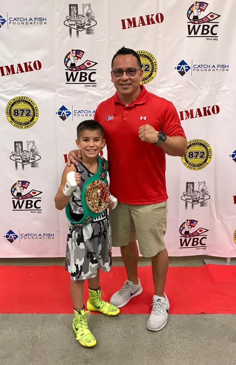 Brady Ochoa 2017 WBC Amatuer Champion