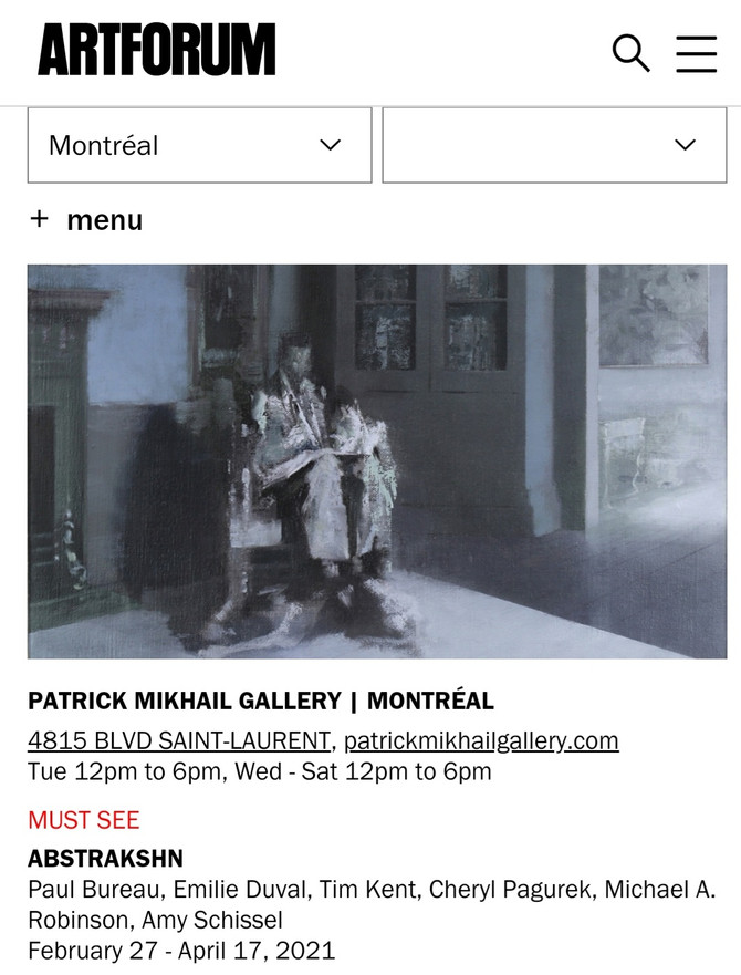 ARTFORUM selects ABSTRAKSHN at Patrick Mikhail Gallery as a 'MUST SEE' Exhibition