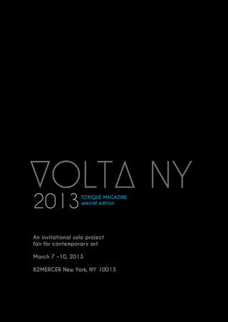 DENMARK'S TOXIQUE MAGAZINE FEATURES AMY SCHISSEL AT VOLTA NEW YORK