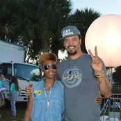 B. Soleil and Micheal Franti backstage after Actions for Change Music Festival near Miami, F