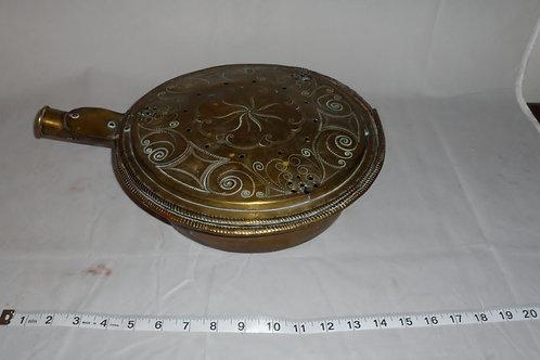 Brass Ornate Bed Warmer
