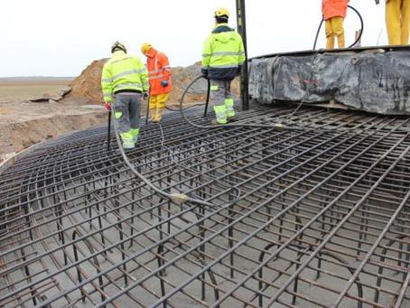 Beton für die Fundamente
