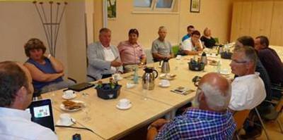 5 Brandenburger MdB der Linken zu Besuch in Rehfelde