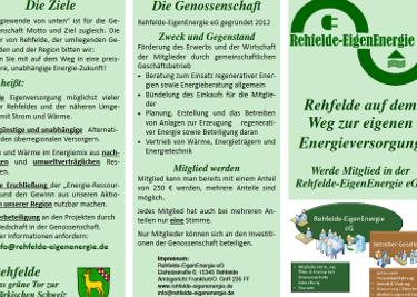 Neuer Info-Flyer der Rehfelde EigenEnergie steht bereit