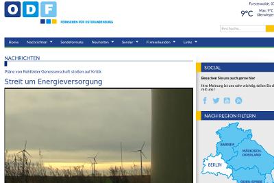 ODF über Diskussion um Windenergie in Rehfelde