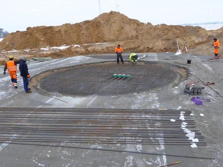 Fundamentbau für WEA 1 beginnt