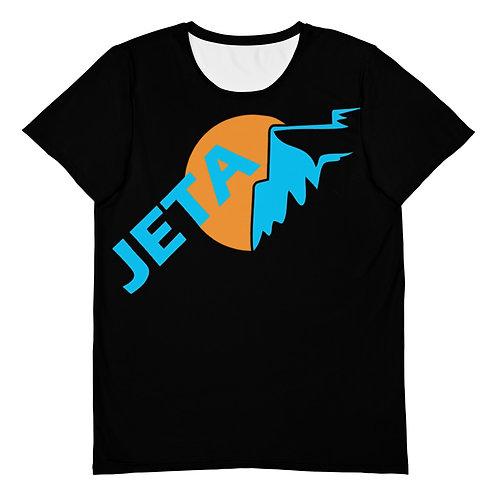 Men's Black JETA Logo Athletic T-shirt