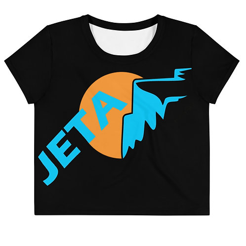 JETA Black Logo Crop Top