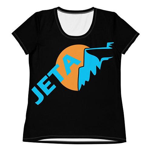 Women's Black JETA Logo Athletic T-shirt