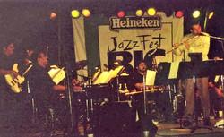 Mariano Morales, Music Director & Dave Valentin, guest soloist, Heineken Jazz Fest Big Ban