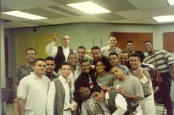Mariano with his students