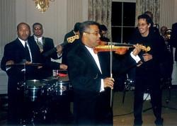 Mariano Morales con Marc Anthony, White House Washington, DC