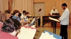 Mariano conducting Latin American Music Ensemble with Tito Puentes guest artist