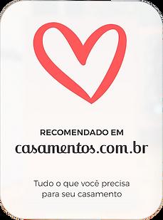 caricatura Recomendado em Casamentos.com.br