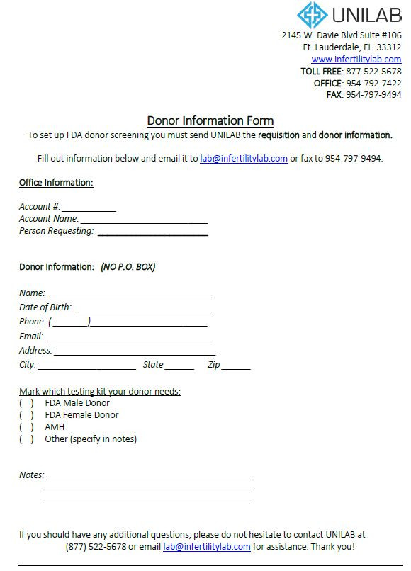 Donor Information Form