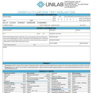 Unilab Requisition Form