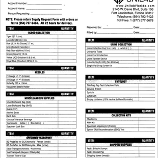 Unilab Supply Request Form
