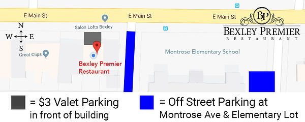 Bexley Premier Restaurant Parking Map Co