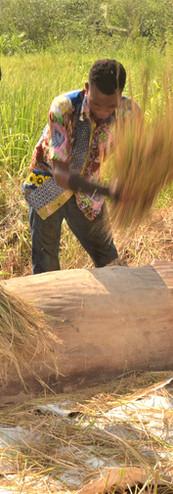 Manual Rice Husking