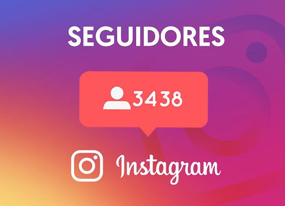 Instagram Seguidores Mix Real/Fake