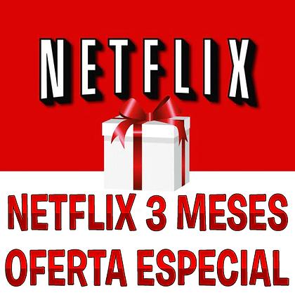 Netflix UHD 4 telas/3 meses