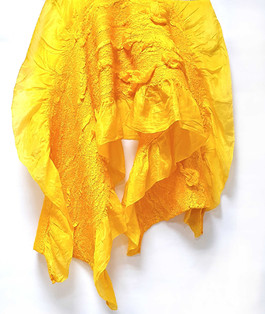 Yellow Wool and Silk Felting - byCananOral