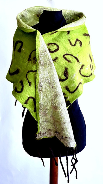 Green Wool and Silk Felting - byCananOral