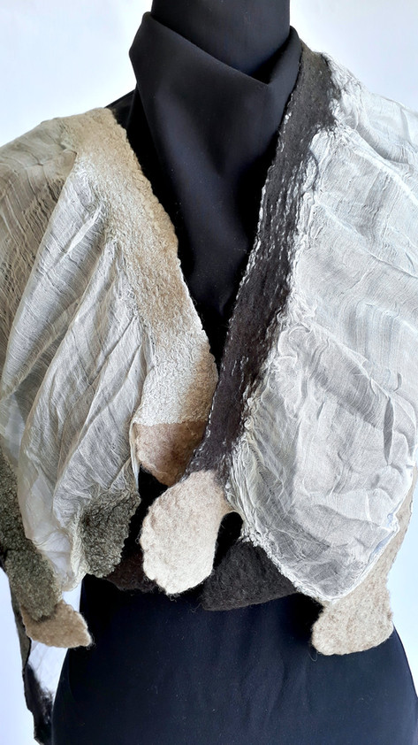 Silk Between Felted Wool - byCananOral