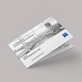 Certificado de Garantia Zeiss