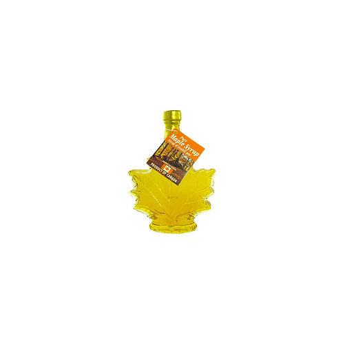 Sirop d'érable ambré dans une bouteille en feuille d'érable ( 50ml )