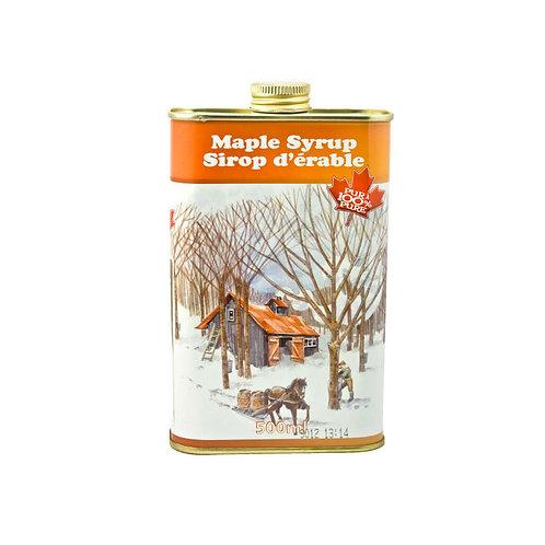 Donkere ahornsiroop in blikje (500ml)