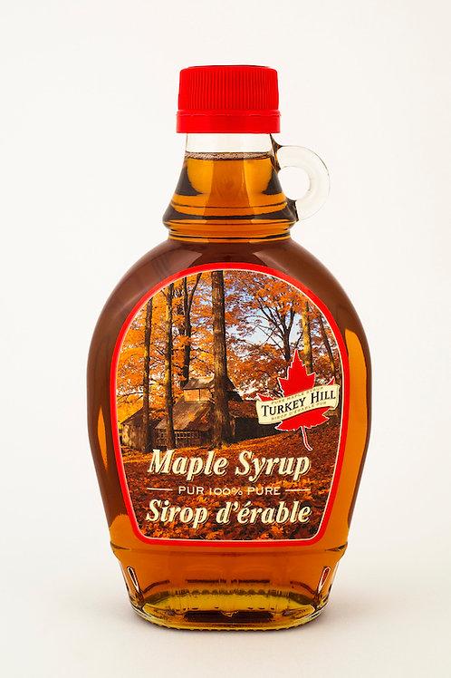 Le sirop d'érable Grade A ambré en flacon ( 375ml )