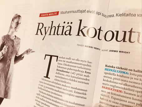Immigrants don't learn Finnish