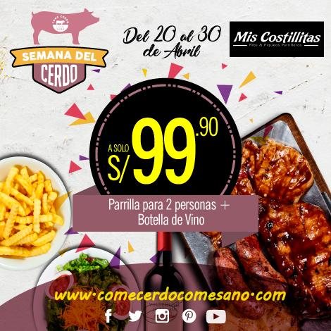 S/99.90 | MIS COSTILLITAS
