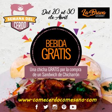 Bedida Gratis | LA BRAVA