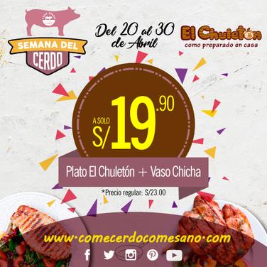 S/19.90 | EL CHULETÓN