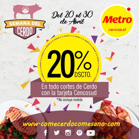 20% dscto | METRO