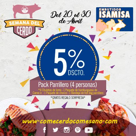5% dscto | ISAMISA