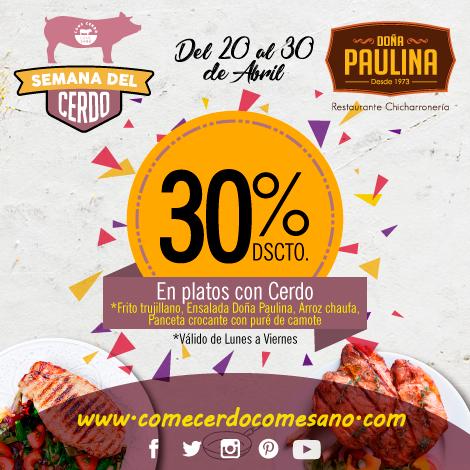 30% dscto. | DOÑA PAULINA