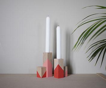 creation française, decoration scandinave, bougeoir bois, design scandinave, décoration graphique, chandelier bois