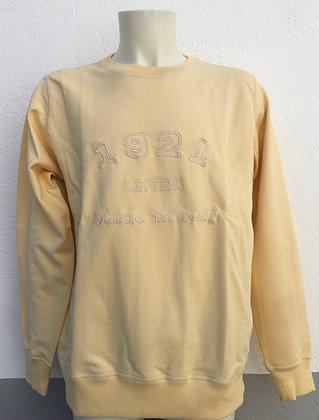 Sweat-shirt jaune clair brodé