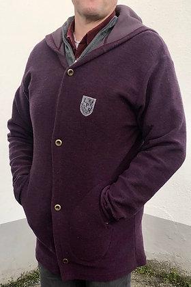 Manteau long à capuche en laine