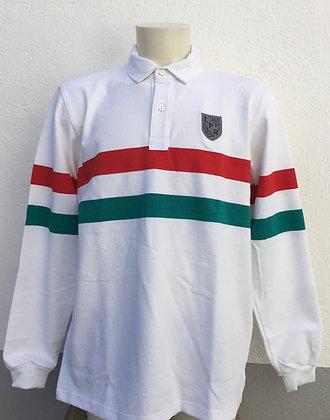 Polo rayé vert, blanc et rouge brodé manches au choix