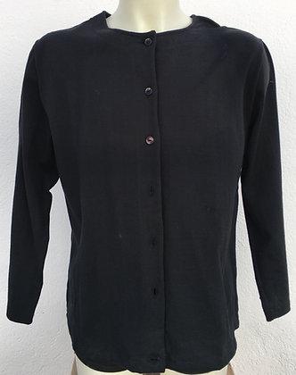 Veste noire à boutons