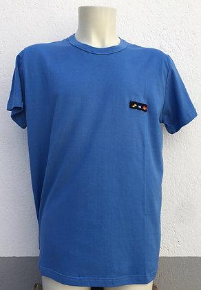 T-shirt bleu roi brodé manches au choix